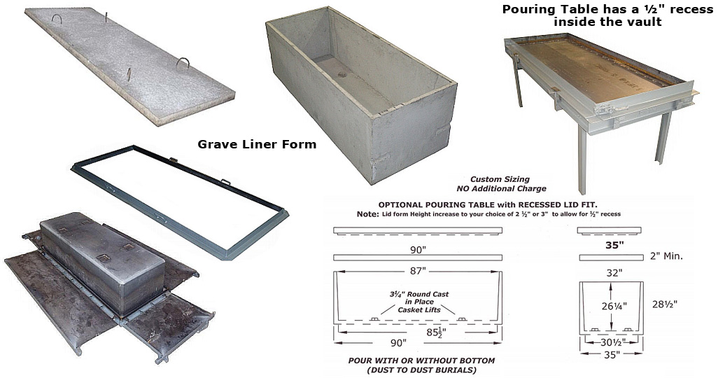 Concrete Burial Vault Forms : Concrete burial vaults forms bethlehem mfg
