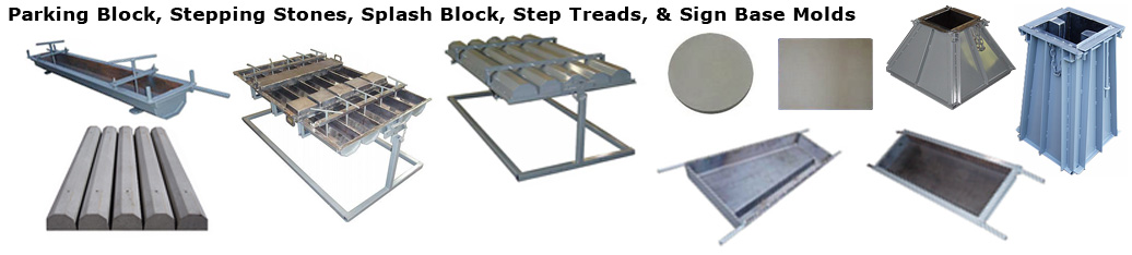 Parking, Splash Block, Stepping Stone, Step Tread, andSign Base Pictures.